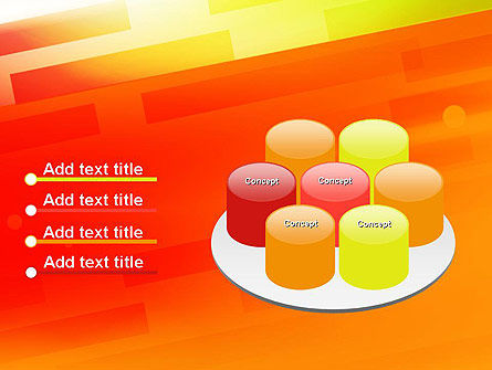 Abstract Red Orange Diagonal Glowing Stripe PowerPoint Template Slide 12