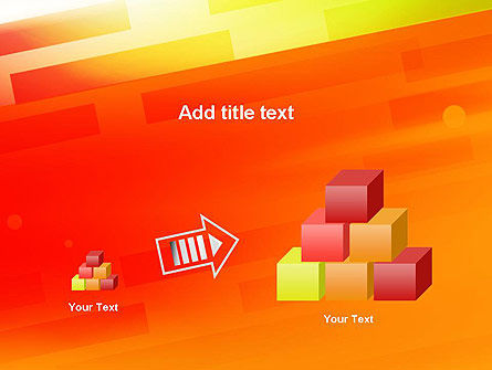 Abstract Red Orange Diagonal Glowing Stripe PowerPoint Template Slide 13