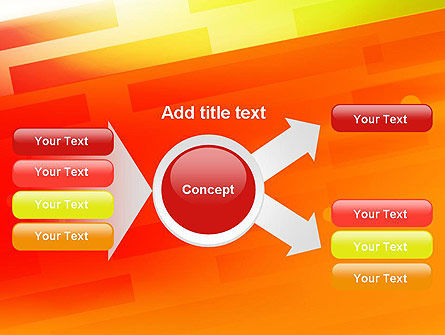 Abstract Red Orange Diagonal Glowing Stripe PowerPoint Template Slide 15