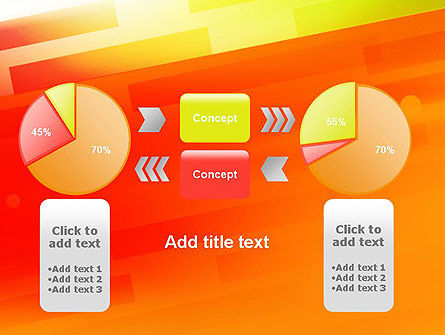 Abstract Red Orange Diagonal Glowing Stripe PowerPoint Template Slide 16
