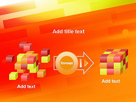 Abstract Red Orange Diagonal Glowing Stripe PowerPoint Template Slide 17