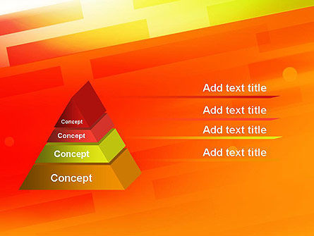 Abstract Red Orange Diagonal Glowing Stripe PowerPoint Template Slide 4