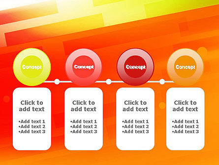 Abstract Red Orange Diagonal Glowing Stripe PowerPoint Template Slide 5
