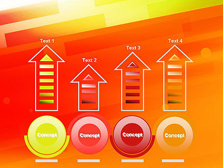 Abstract Red Orange Diagonal Glowing Stripe PowerPoint Template Slide 7