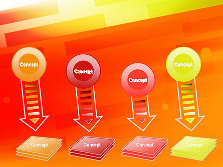 Abstract Red Orange Diagonal Glowing Stripe PowerPoint Template Slide 8