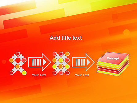 Abstract Red Orange Diagonal Glowing Stripe PowerPoint Template Slide 9