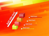 Abstract Red Orange Diagonal Glowing Stripe PowerPoint Template#14