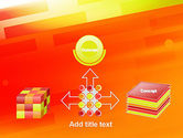 Abstract Red Orange Diagonal Glowing Stripe PowerPoint Template#19