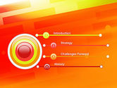 Abstract Red Orange Diagonal Glowing Stripe PowerPoint Template#3
