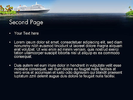 Cruise Ship PowerPoint Template Slide 2