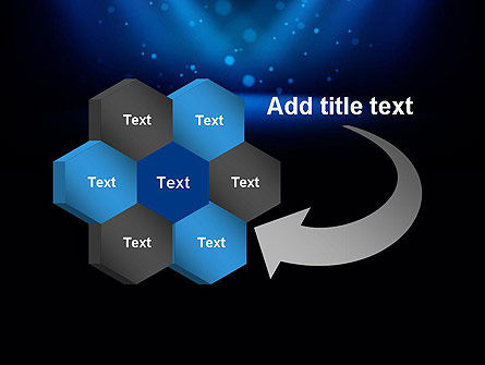 Illuminated Stage with Blue Scenic Lights PowerPoint Template Slide 11