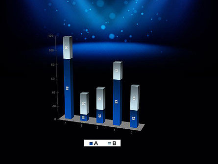 Illuminated Stage with Blue Scenic Lights PowerPoint Template Slide 17