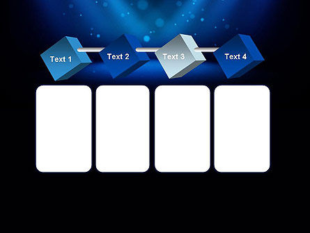Illuminated Stage with Blue Scenic Lights PowerPoint Template Slide 18