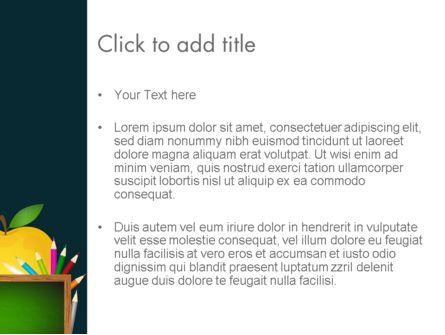 Apple of Knowledge PowerPoint Template, Slide 3, 13626, Education & Training — PoweredTemplate.com
