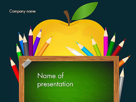 Education & Training: Apple of Knowledge PowerPoint Template #13626
