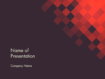 Abstract Conceptual Squares Geometrical Background PowerPoint Template
