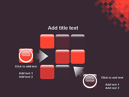Abstract Conceptual Squares Geometrical Background PowerPoint Template Slide 16