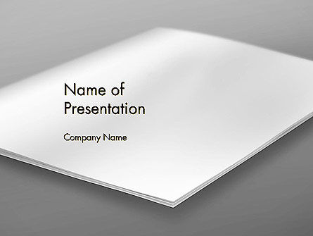Blank Brochure on White Background PowerPoint Template, 13632, Abstract/Textures — PoweredTemplate.com