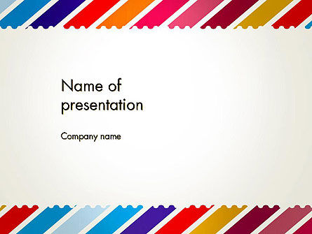 Stamp Style Frame Abstract PowerPoint Template