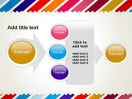 Stamp Style Frame Abstract PowerPoint Template Slide 17