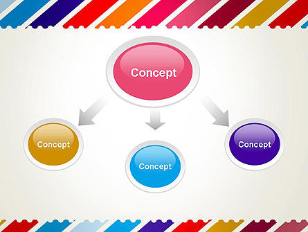 Stamp Style Frame Abstract PowerPoint Template Slide 4