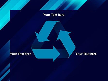 Abstract Blue Blades PowerPoint Template Slide 10