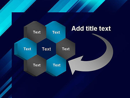 Abstract Blue Blades PowerPoint Template Slide 11