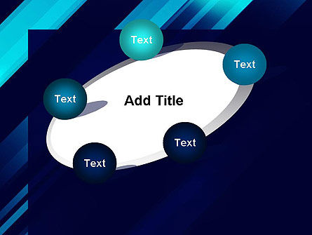 Abstract Blue Blades PowerPoint Template Slide 14