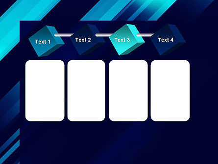 Abstract Blue Blades PowerPoint Template Slide 18