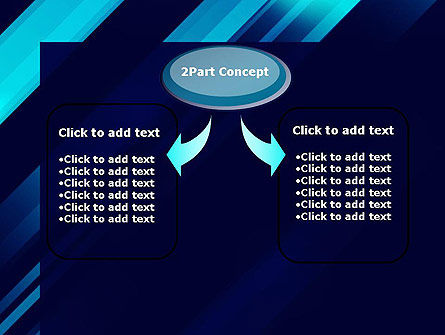 Abstract Blue Blades PowerPoint Template Slide 4