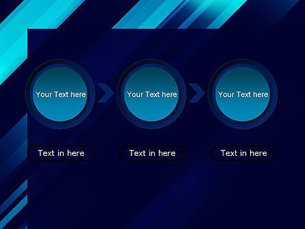 Abstract Blue Blades PowerPoint Template Slide 5