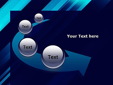 Abstract Blue Blades PowerPoint Template Slide 6