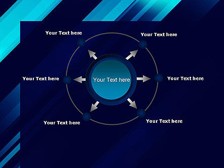 Abstract Blue Blades PowerPoint Template Slide 7
