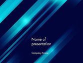 Abstract/Textures: Abstract Blue Blades PowerPoint Template #13635