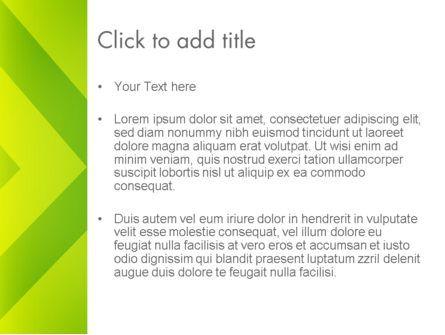 Green Abstract Edge PowerPoint Template, Slide 3, 13636, Abstract/Textures — PoweredTemplate.com