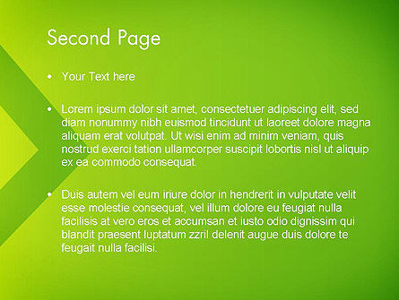 Green Abstract Edge PowerPoint Template, Slide 2, 13636, Abstract/Textures — PoweredTemplate.com