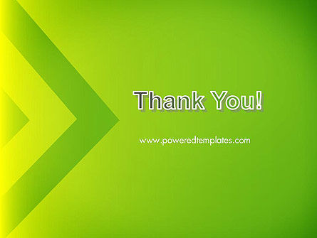 Green Abstract Edge PowerPoint Template Slide 20