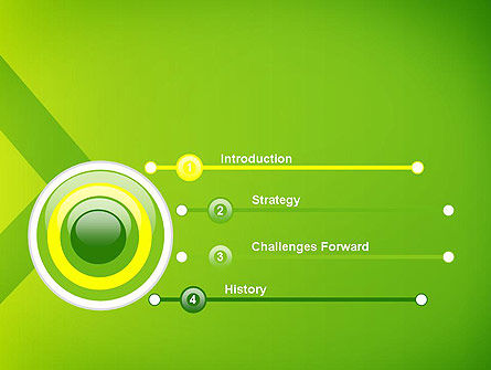 Green Abstract Edge PowerPoint Template, Slide 3, 13636, Abstract/Textures — PoweredTemplate.com