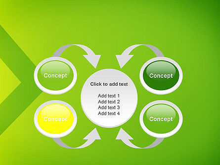 Green Abstract Edge PowerPoint Template Slide 6
