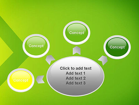 Green Abstract Edge PowerPoint Template Slide 7