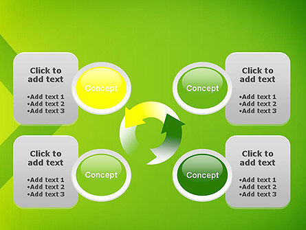 Green Abstract Edge PowerPoint Template Slide 9
