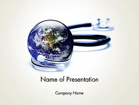 Medical: Modelo do PowerPoint - conceito de medicina global #13637