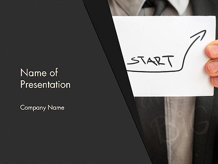 Man Holding Paper with Inscription PowerPoint Template, 13638, Business Concepts — PoweredTemplate.com