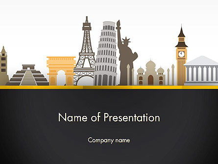Construction: Landmarks from Around the World PowerPoint Template #13639
