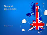 Careers/Industry: UK Air Travel PowerPoint Template #13641