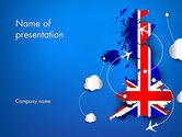 Careers/Industry: Plantilla de PowerPoint - viaje aéreo en el reino unido #13641