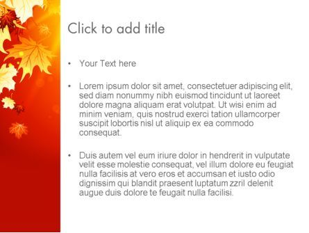 Autumn Maple PowerPoint Template, Slide 3, 13642, Nature & Environment — PoweredTemplate.com