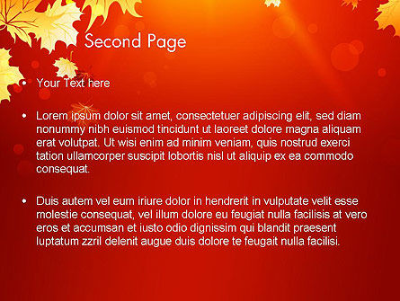 Autumn Maple PowerPoint Template, Slide 2, 13642, Nature & Environment — PoweredTemplate.com