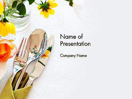 Table Setting Ideas PowerPoint Template, 13643, Careers/Industry — PoweredTemplate.com