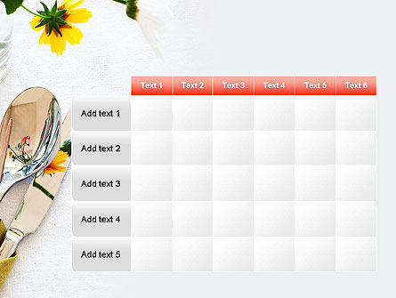 Table Setting Ideas PowerPoint Template Slide 15